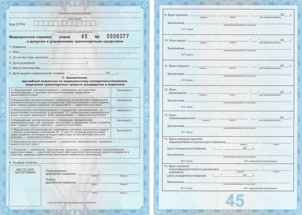 Справка для продления водительских прав в Щелково